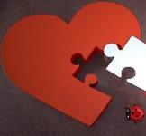 Puzzle in de vorm van een hart